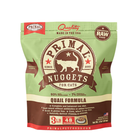 Primal Primal Cat Raw Quail Nuggets 3#