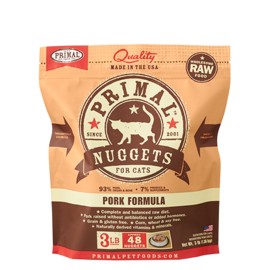 Primal Primal Cat Raw Pork Nuggets 3#