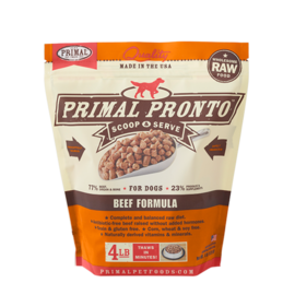 Primal Primal Dog Pronto Raw Beef 4#