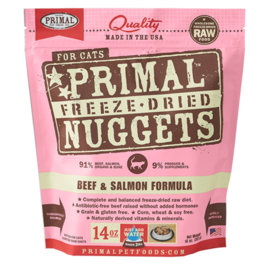 Primal Primal Cat FD Beef/Salmon 14oz