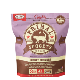 Primal Primal Cat Raw Turkey Nugget 3#