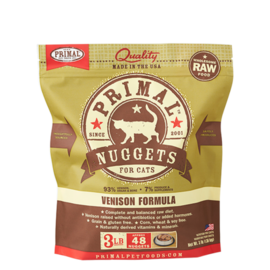 Primal Primal Cat Raw Venison Nugget 3#