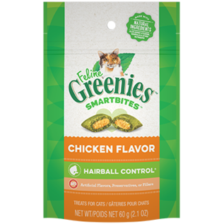Greenies Greenies Cat SmartBites Hairball Chicken  2.1oz