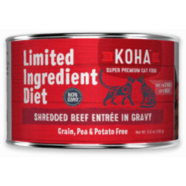 Koha Koha Cat LID Shredded Beef 5.5oz