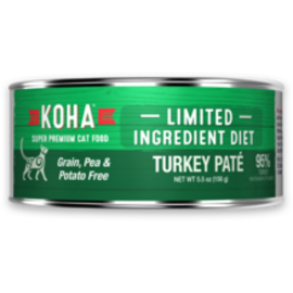 Koha Koha Cat LID Pate GF 96% Turkey 3oz