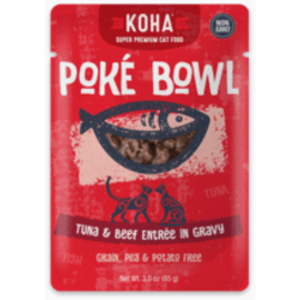Koha Koha Cat GF Poke Tuna & Beef Packet 3oz