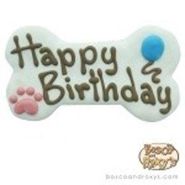 """Bosco & Roxy Bosco & Roxy's White Happy Birthday Bone 6"""""""