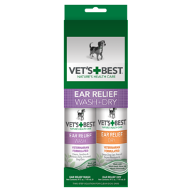 Vet's Best Vet's  Best Ear relief Wash & Dry