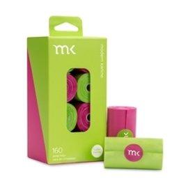 Modern Kanine MK poop bag Green Pink 160 ct