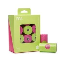 Modern Kanine MK poop bags Green Pink 240 ct