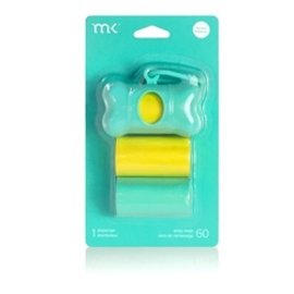 Modern Kanine MK poop bag dispenser Torq Yellow 60 ct