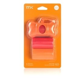 Modern Kanine MK poop bag dispensor Orange Coral 60 ct