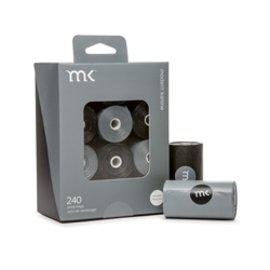 Modern Kanine MK Poop Bags Black and Grey 240 ct