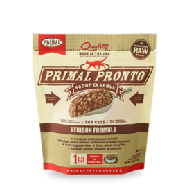 Primal Primal Cat Pronto Raw Venison 1#