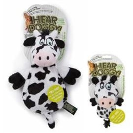 QPG QPG HearDoggy Flats Cow Toy