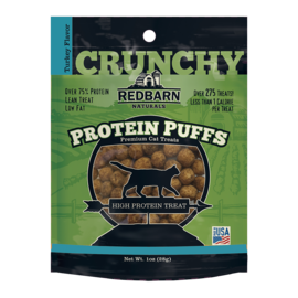 Redbarn Pet Products Redbarn Cat Protein Puffs Turkey 1oz