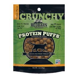 Redbarn Pet Products Redbarn Cat Protein Puffs Chicken 1oz