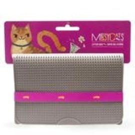 Messy Mutts Messy Cats Litter Mat Grey