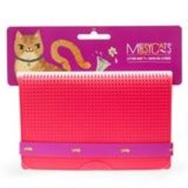 Messy Mutts Messy Cats Litter Mat Red