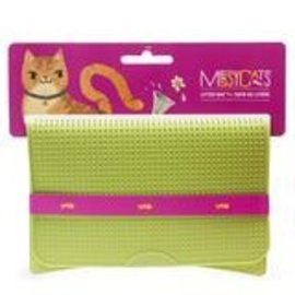 Messy Mutts Messy Cats  Litter Mat Green