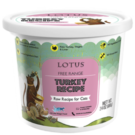 Lotus Lotus Cat Raw Turkey 24oz
