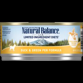 Natural Balance Natural Balance LID Duck,Green Pea Cat 5.5z