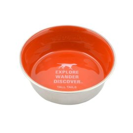 Tall Tails Tall Tails Stainless Steel Bowl Orange 1.5 Cup