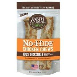 Earth Animal Earth Animal No Hide Chicken Chews 4'' 2 Pack