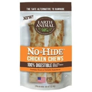 Earth Animal Earth Animal No Hide Chicken Chews 4'' 2 Pack