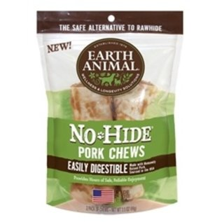 Earth Animal Earth Animal No Hide Pork Chew 4'' 2 Pack