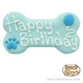 "Bosco & Roxy Bosco & Roxy's Blue Happy Birthday Bone 6"""