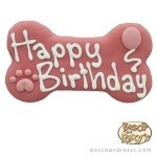 Bosco & Roxy BAR Pink Birthday Bone 6""