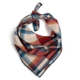 The Worthy Dog The Worthy Dog Rust Plaid Bandanna SM
