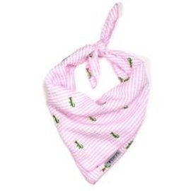 The Worthy Dog The Worthy Dog Pink Alligator Bandanna LG