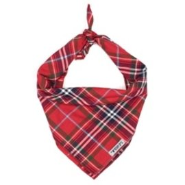 The Worthy Dog The Worthy Dog Red Plaid Bandanna LG