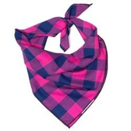The Worthy Dog The Worthy Dog Pink & Navy Bandanna LG