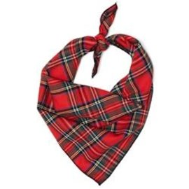 The Worthy Dog The Worthy Dog Red Plaid III Bandanna LG