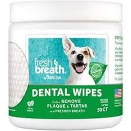 Tropiclean Dental Wipes 50CT