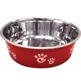Barcelona Paw Print Dog Bowl Raspberry 32oz