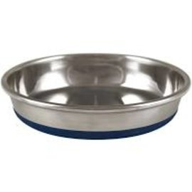 OurPet's Premium Rubber Bottom Stainless Steel Cat Bowl 8oz