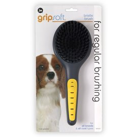 JW Products JW Dog Grip Soft Bristle Brush