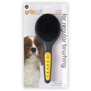 JW Products JW Dog Grip Soft Bristle Brush