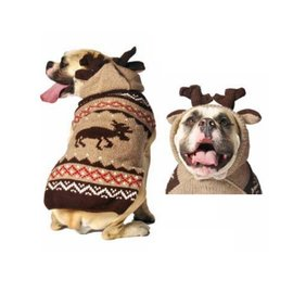 Chilly Dog Chilly Dog Sweater Moose Medium