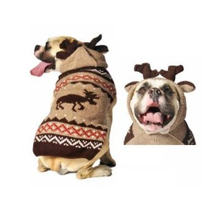 Chilly Dog Chilly Dog Sweater Moose Medium