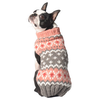 Chilly Dog Chilly Dog Sweater Fairisle Peach Large