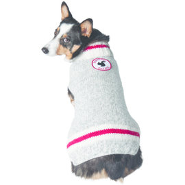 Chilly Dog Chilly Dog Sweater Squirrel Patrol Gray Large