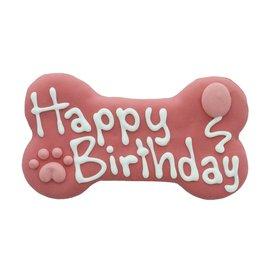 "Bosco & Roxy Bosco & Roxy Pink Happy Birthday Bone 6"""