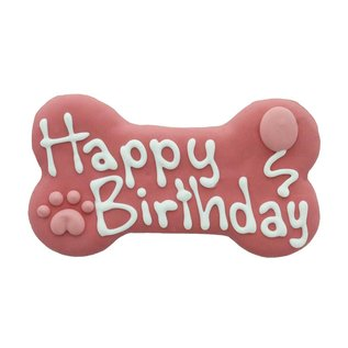 Bosco & Roxy Bosco & Roxy Pink Happy Birthday Bone 6""