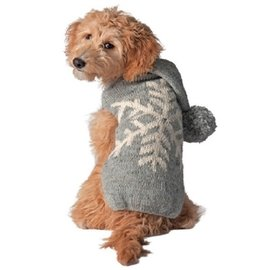 Chilly Dog Chilly Dog Grey Alpaca Snowflake S