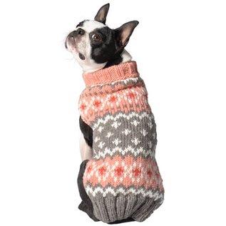 Chilly Dog Chilly Dog Peach Alpaca Fairisle Small